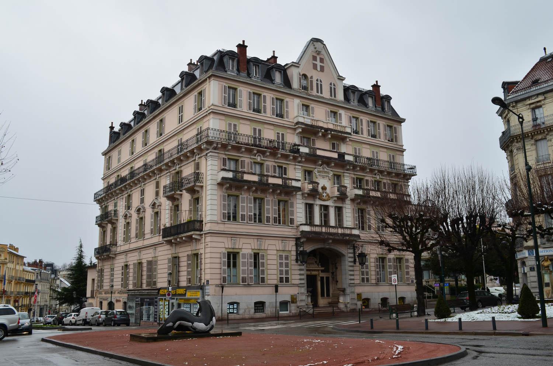 Le grand hotel d'aix les bains en hiver