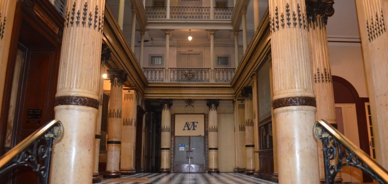 Le hall du grand hôtel